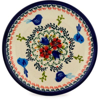 Polish Pottery 7-inch Plate Boleslawiec Stoneware Polmedia H9497C