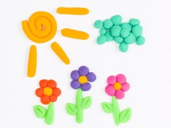 Modèles pâte à modeler : 20 idées simples | Artisanat de fleurs, Créations en argile et Pate a ...