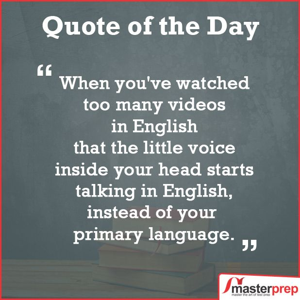 An exclusive #MasterPrep #MondayTip for all those preparing for #IELTS, #TOEFL and #PTEAcademic - watch good quality content in English & read good English books. Gradually, your mind would start thinking in English eventually leading to better English speaking! #Best_English_Training_Institute www.masterprep.in