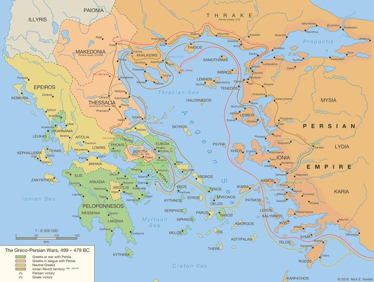 The Greco-Persian Wars, 499 - 479 BC by Undevicesimus.deviantart.com on @DeviantArt