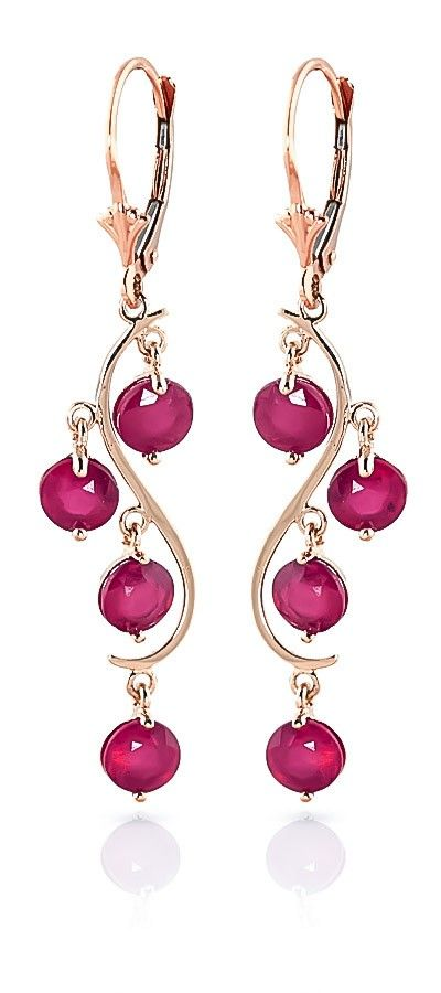 9ct Rose Gold 4.0ct Ruby Dream Catcher Earrings