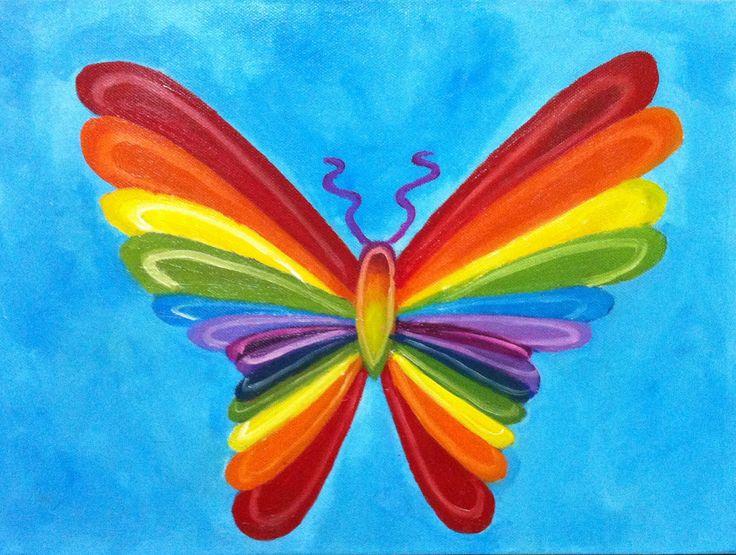 Mariposa de colores 2013 pintura al oleo alumna - Pintura de colores ...