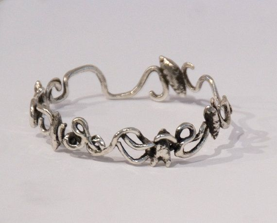 Silver Seaweed Bangle Mermaid Jewelry Thick Sterling by Wakamee, $185.00