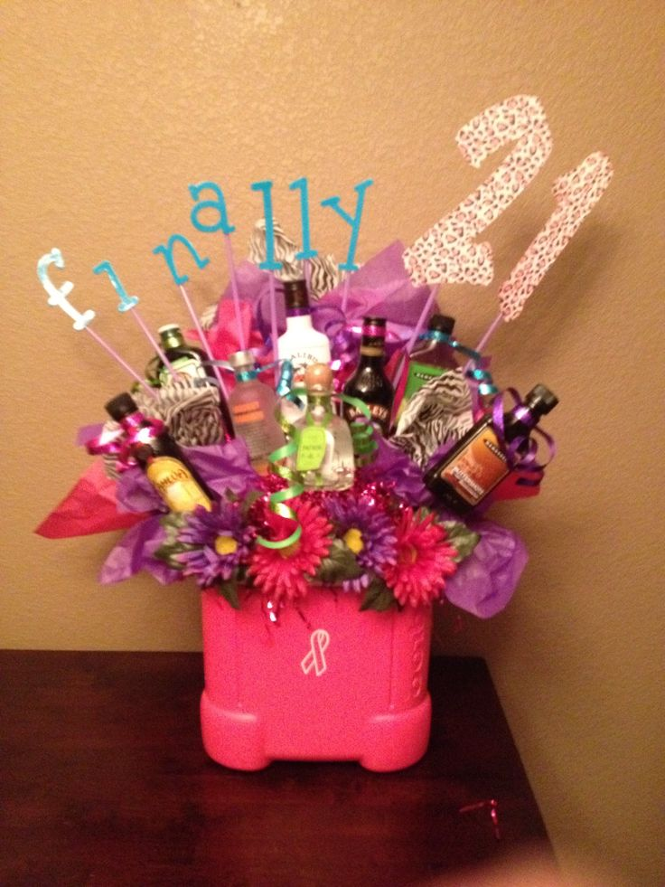 Liquor Bouquet Great Gift Idea For Someone S 21st Birthday