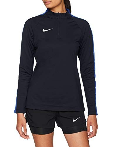 e43cb9ccad Nike Women's Dry Academy 18 Drill Football Top, Obsidian/Royal Blue/White, S