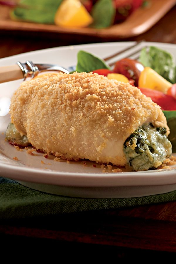 Spinach-Stuffed Chicken Bundles – Filled with cream cheese and shredded mozzarella, this recipe for Spinach-Stuffed Chicken Bundles are likely to please every member of your family on the dinner table.