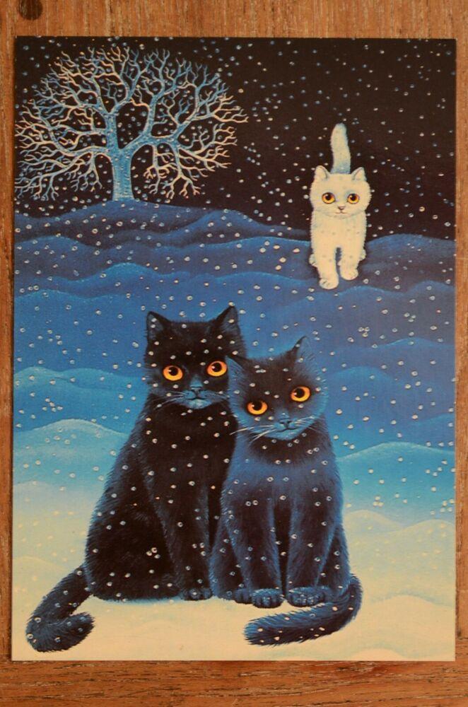 Excellent Vintage Postcard Luka Basic Anna Hollerer Black Cats Download Free Architecture Designs Scobabritishbridgeorg