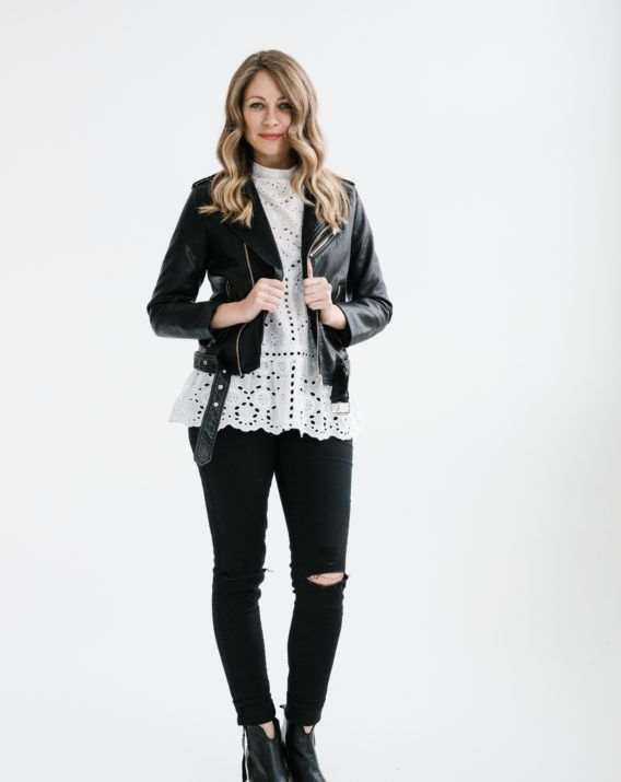 Without Him Biker Jacket - Blossom & Glow