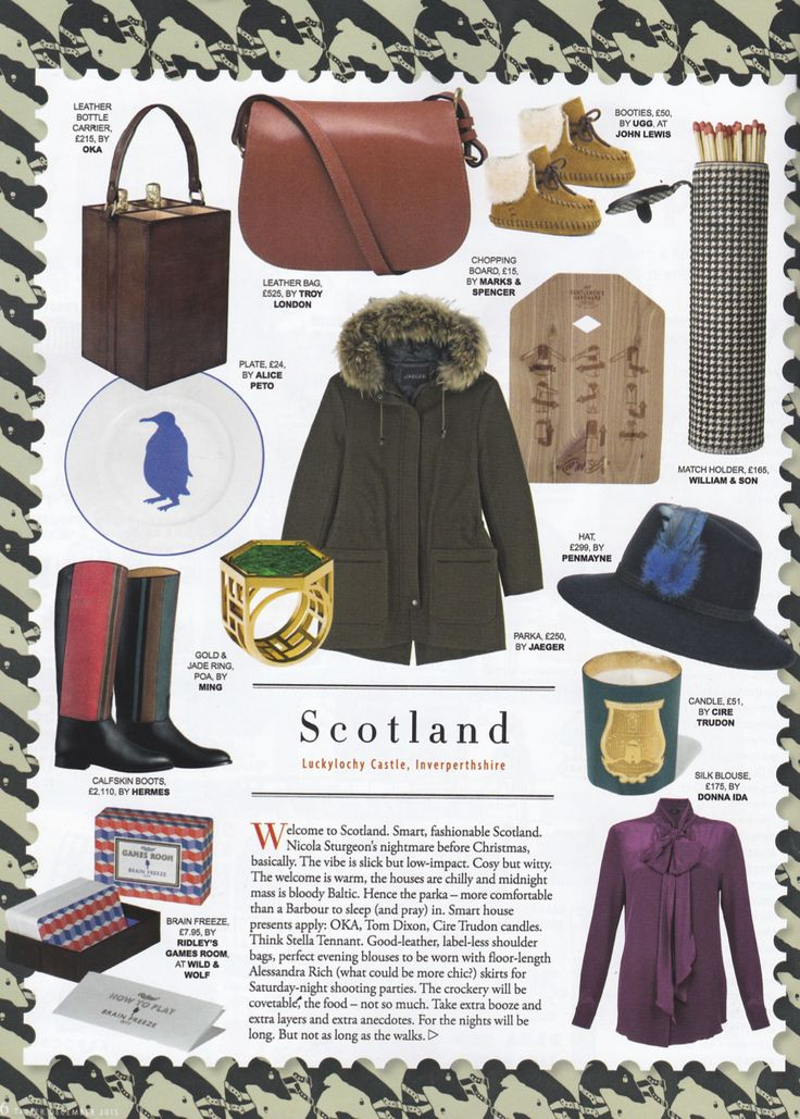 Tatler's Great Global Christmas Guide featuring our Midnight Festival Fedora (October 2015).