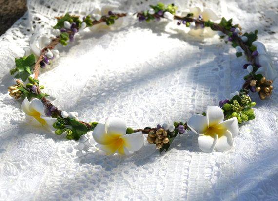 Frangipani Floral Bridal Bridesmaid Hair Crown, Headband, Wedding, Party, Flower, Hair Accessories, Vintage Vine, Headpiece on Etsy, $40.81 AUD