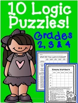 Logic Puzzles:  I have created 10 logic puzzles that would be appropriate for logic puzzle beginners. I have always enjoyed doing logic puzzles myself and decided to make some of my own for my students. Logic puzzles are excellent for critical thinking and reasoning skills.