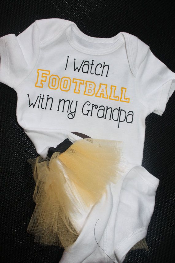 Girls I watch football with my grandpa tutu onesie by lambiesbands, $18.00