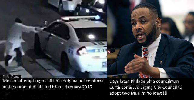 Traitor Jones. via: City Council backs recognizing two Muslim holidays Philadelphia City Council on Thursday called on the city and the school district to officially recognize two Muslim holidays, ...