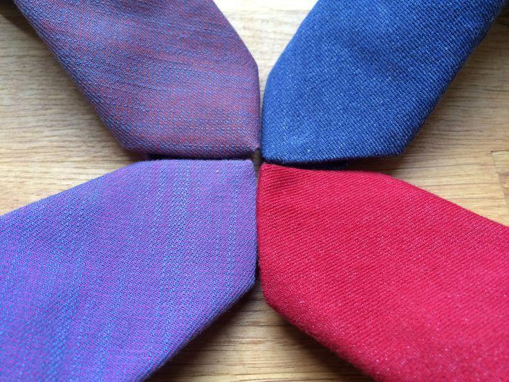 Artisara denim slim ties, all made from happy vegan fabrics, some of cotton, some of bio cotton. www.artisara.com