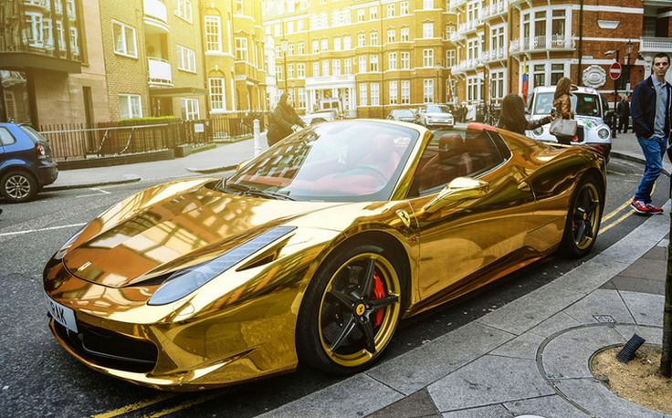 Chrome Gold Ferrari 458 Spider: One of the Most Unique Cars London Has Seen