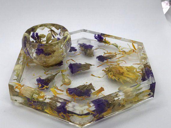 Small Resin Crystal Trinket Dish
