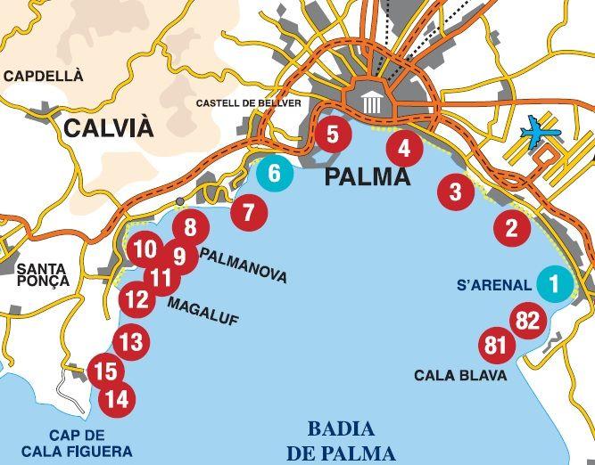 Beaches In Palma De Mallorca Palma De Mallorca Beach Mallorca