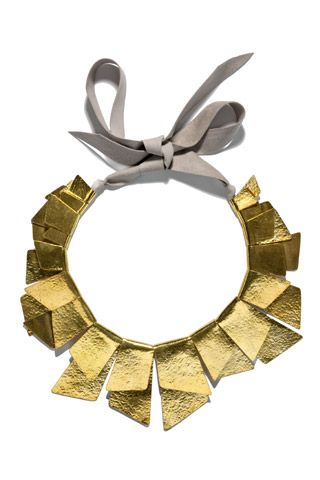 Brass necklace by Hervé Van der Straeten.