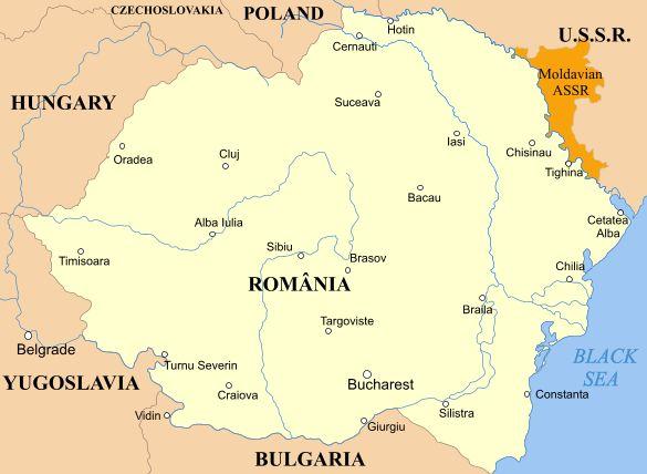 Moldavian ASSR (orange) and Romania, 1924–1940