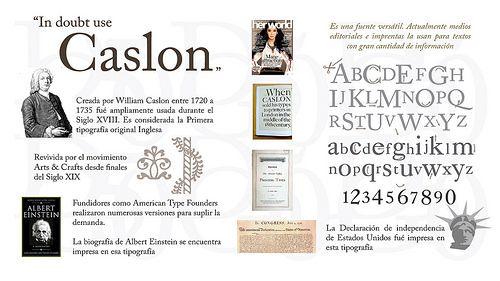 William Caslon #Infographic #Design #Typography