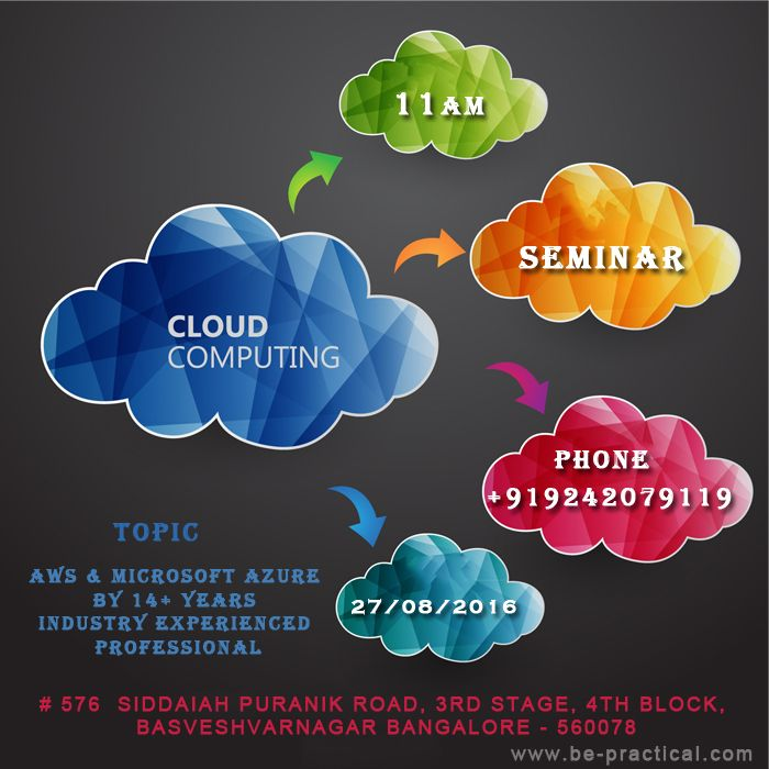 IT'S RAINING JOBS IN CLOUD COMPUTING  Find a Career in Cloud Computing - median salary for cloud computing professionals is $100,000.  Globally there are 1,82,00,000+ cloud computing jobs  A majority of these jobs are going to be present in emerging market like India, china and Asia-pacific region  Cloud computing seminar on be-practical @11AM (Aug 27, 2016) Register Now!! Or Call 9242079119  For more about our Institute Visit --- www.be-practical.com