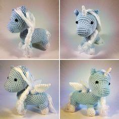 Freie Häkelanleitung: Baby Pegasus oder geflügeltes Einhorn   Flauscheinhorn