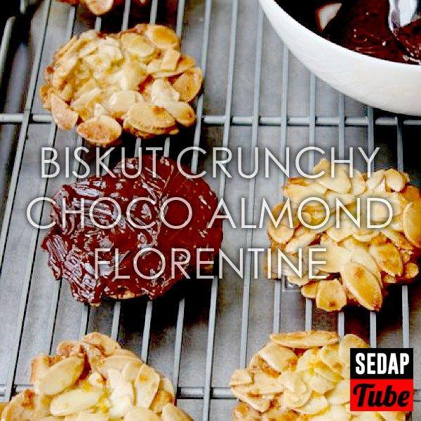 Resepi biskut Crunchy Almond TANPA tepung Florenta!