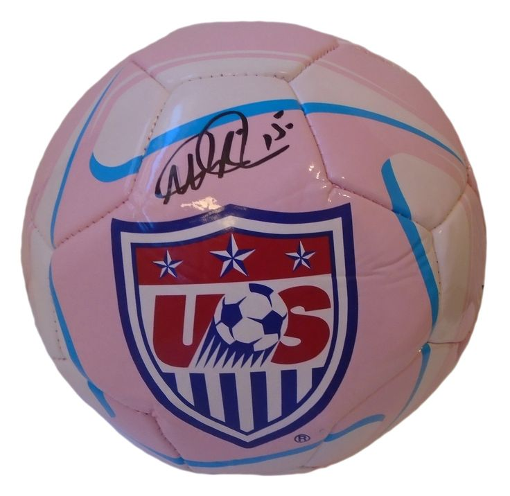 Megan Rapinoe Autographed Pink United States Logo Soccer Ball, Proof Photo. Megan Rapinoe Signed Pink United States Logo Soccer Ball, USWNT, Seattle Reign, Proof Photo  This is a brand-new Megan Rapinoe autographed pink USA logo soccer ball.The soccer ball is size 5. Megan signed the soccer ballin blacksharpie. Check out the photos of Megan signing for us. Please click on images to enlarge. Please browse our websitefor additional MLS and 2015 World Cupautographed collectibles. 3 2015…