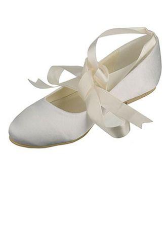 Flat satin ballet flats. Several color options