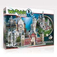 Puzzle 3D zamek Neuschwanstein - 890 elementów  #puzzle #puzzle 3d