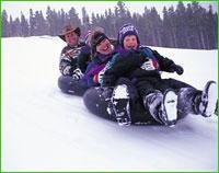 Snow tubing is sick fun!!  Fraser, Colorado