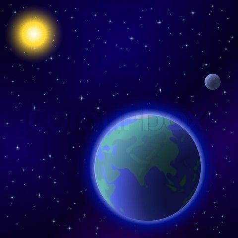 earth moon stars planets - photo #15