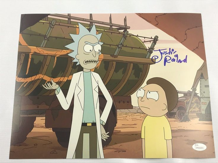 Justin Roiland Authentic Autograph 11x14 Photo Rick and Morty JSA COA 2
