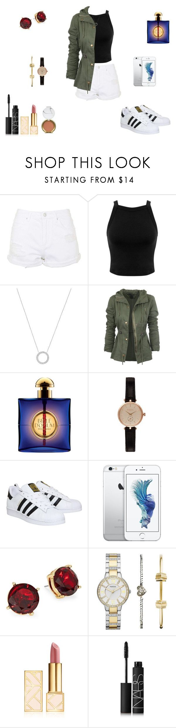 """Sem título #665"" by sr-magcult-bieber-gomez ❤ liked on Polyvore featuring Topshop, Miss Selfridge, Michael Kors, Yves Saint Laurent, Barbour, adidas, Lauren Ralph Lauren, FOSSIL, Tory Burch and NARS Cosmetics"