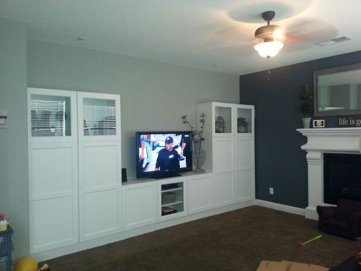 Built-in Ikea entertainment center.