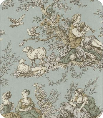 toile fabric from lewis and sheron textiles , lsfabrics style: Four Seasons color: Robin