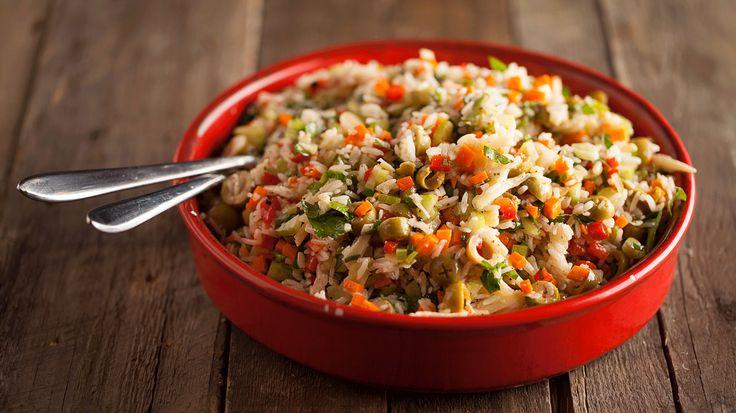 Salade de riz aux olives