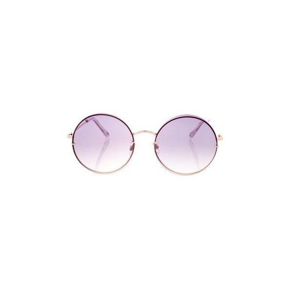 Topshop Melinda Dome Lens Sunglasses ($22) ❤ liked on Polyvore featuring accessories, eyewear, sunglasses, rose gold, topshop sunglasses, lens glasses, summer sunglasses, summer glasses and lens sunglasses