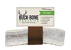 Elk Antler Dog Chews by Buck Bone Organics ~ All Natural Healthy Chew, Large Split 6-7″, From Montana Elk, Made in USA