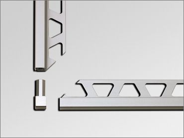 Tile trim, tile edging and wall profiles from Schlüter-Systems are available in stainless steel. aluminium, plastic and matching corner piec...