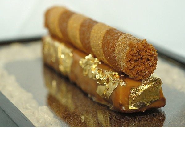 Crunchy salted peanut in few ways... Made at The Plaza Athénée. Paris.