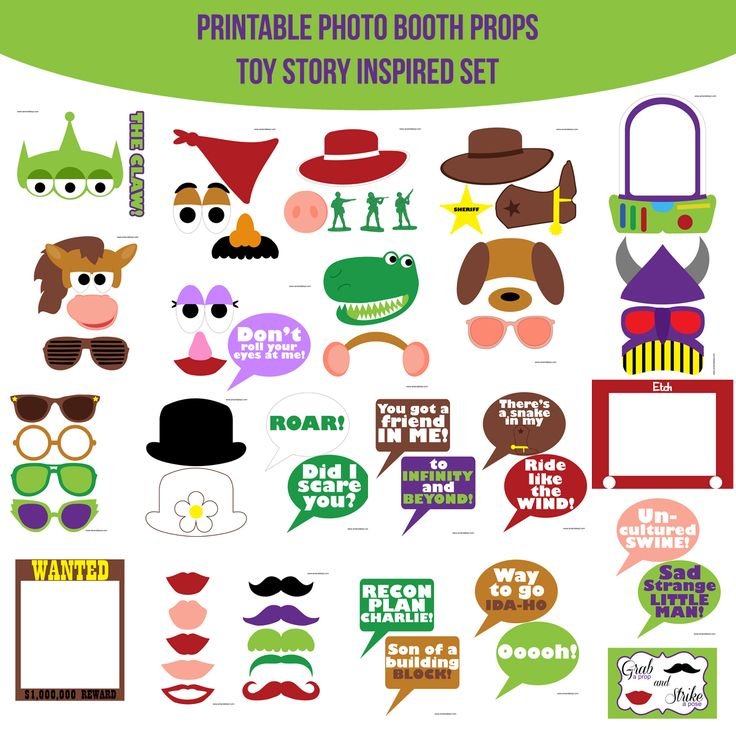 Instant Download Toy Story Inspired Printable Photo Booth Prop Set — Amanda Keyt DIY Photo Booth Props & More!