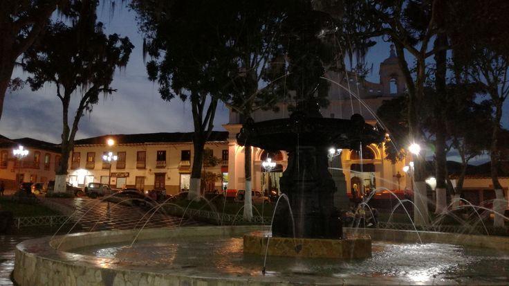 Fuente del parque principal en Salamina Caldas.