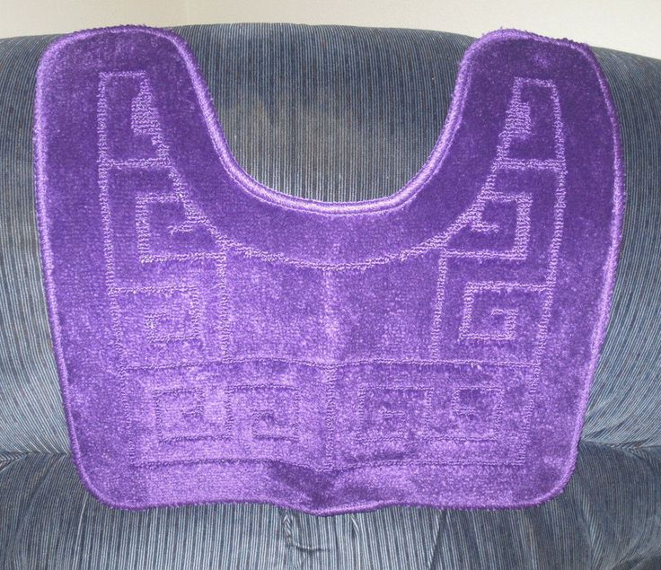 U Shaped Bath Mats Anti Slip Carpets Pedestal Purple Rug Mat 50x70cm #PomeloBest