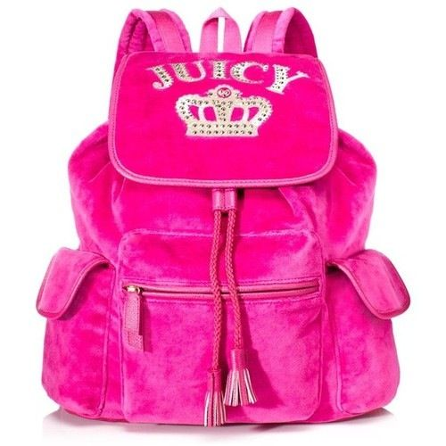 Juicy Couture Pink Velour Backpack Juicy Couture Please