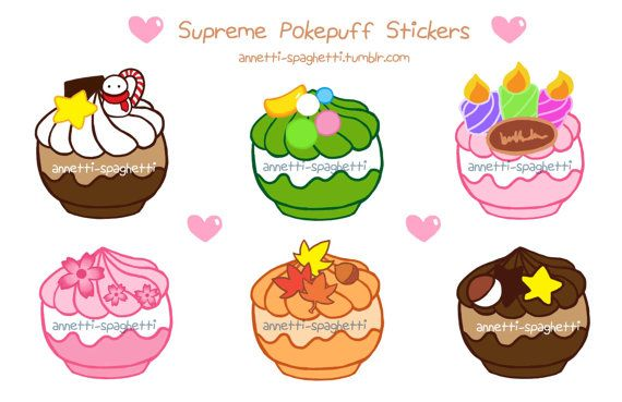 Supreme Pokepuffs UNCUT Sticker Sheet (5.5 in x 8.5 in)