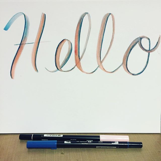 Hello from the other siiiiiiide!  #thedailymarker30day #art #artist #handlettering #font #lettering #adele #instagood #instaart #instaartist #design #dream #graphic #markers #tombow #brush #brushlettering #calligraphy #serif #typostrate #vscophile #handmadefont #dailytype #letterattack #photooftheday #color #coloring #blend #brushpen #hello