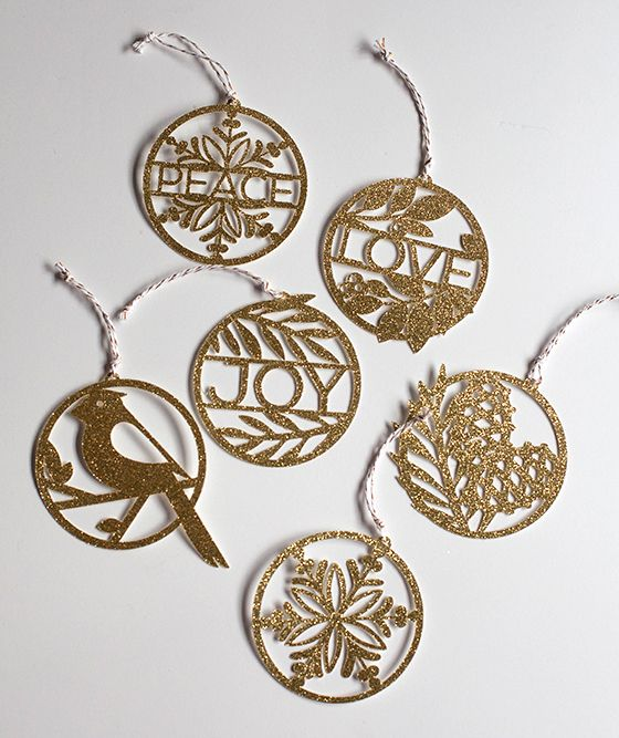 Paper Cut Gold Ornaments for Your Tree