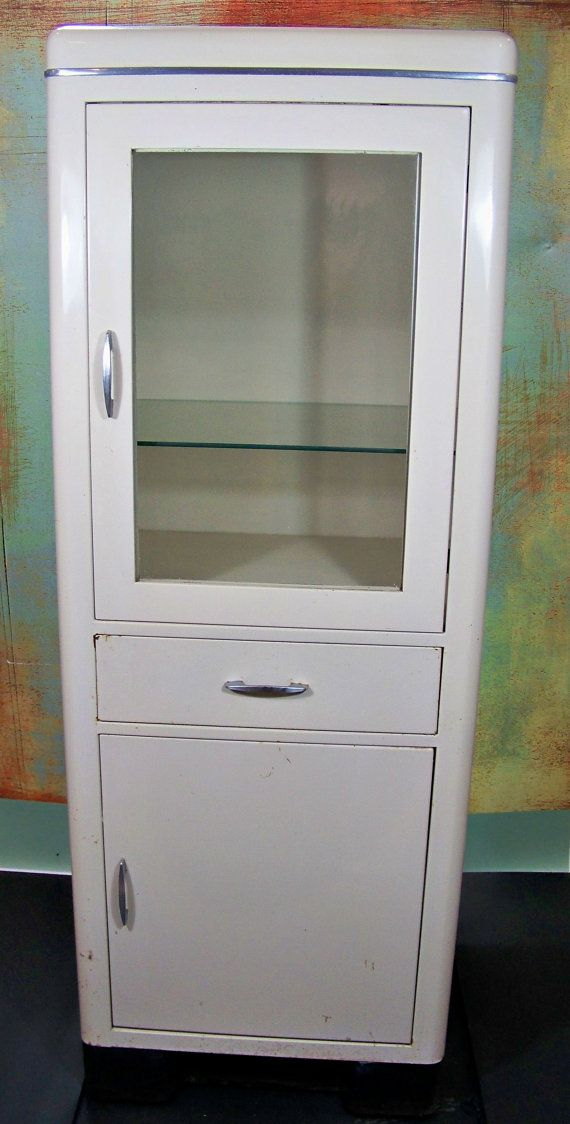 Vintage Medical Cabinet  Metal  Industrial  by SundriesandSalvage, $388.00