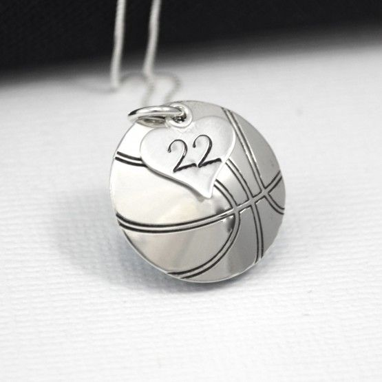 Basketball Necklace by DesignMe Jewelry